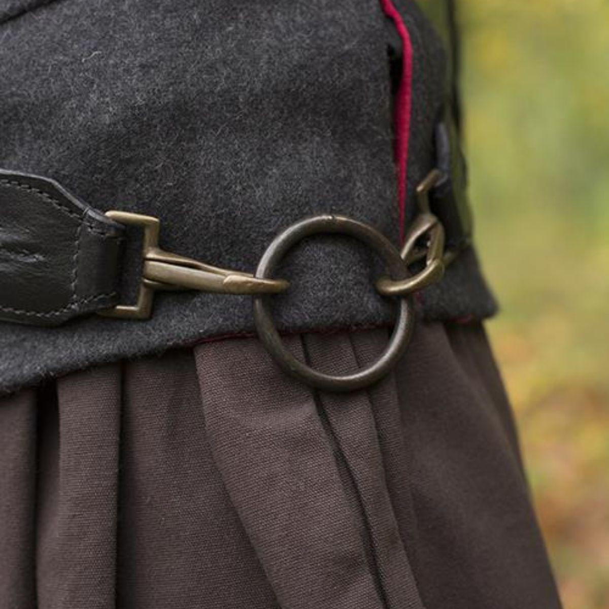 Braided sword belt, black
