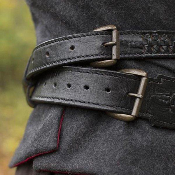 Epic Armoury Braided sword belt, black