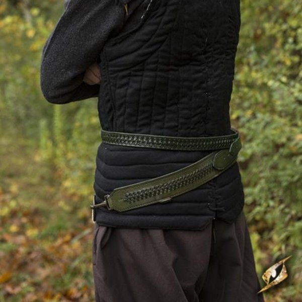 Epic Armoury Braided sword belt, green