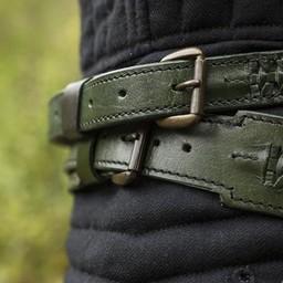 Cinturón trenzado de espada, verde.