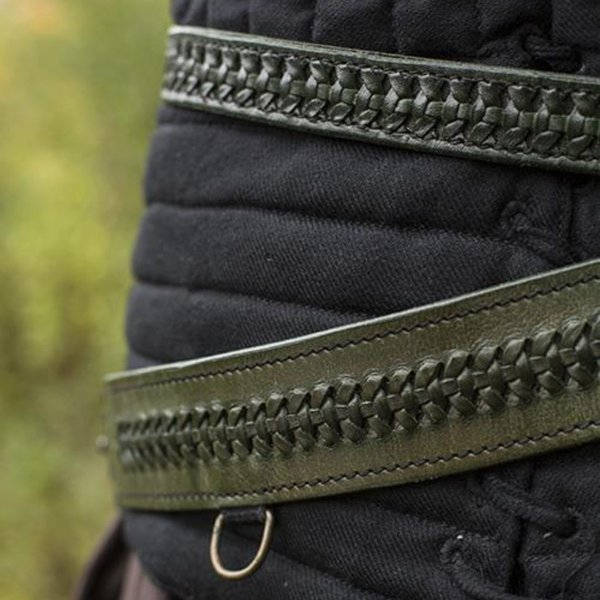 Epic Armoury Geflochtener Schwertgürtel, grün