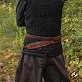 Epic Armoury Cinturón trenzado de espada, rojo.