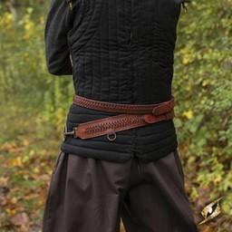 Braided sword belt, red