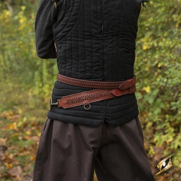 Epic Armoury Ceinture d'épée tressée, rouge