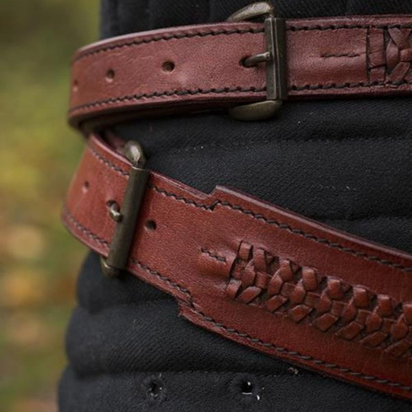 Epic Armoury Braided sword belt, red