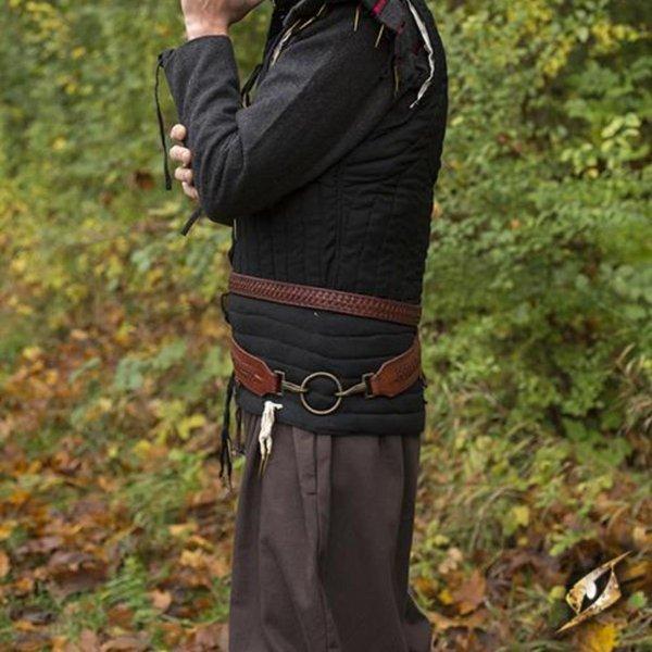 Epic Armoury Geflochtener Schwertgürtel, rot