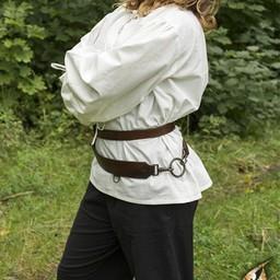 Cinturón de espada de dos partes, marrón