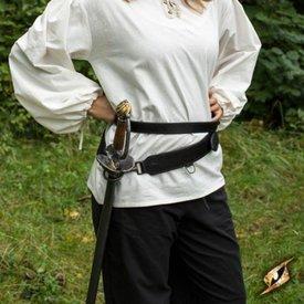 Epic Armoury Tvådelad svärdbälte, svart