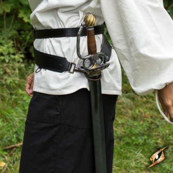Epic Armoury Cintura spada in due parti, nera