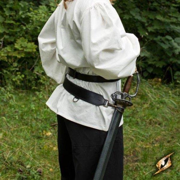 Epic Armoury Ceinture épée en deux parties, noire