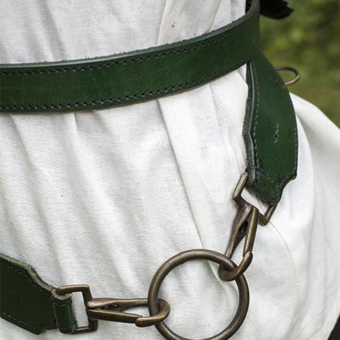 Epic Armoury Cinturón de espada de dos partes, verde