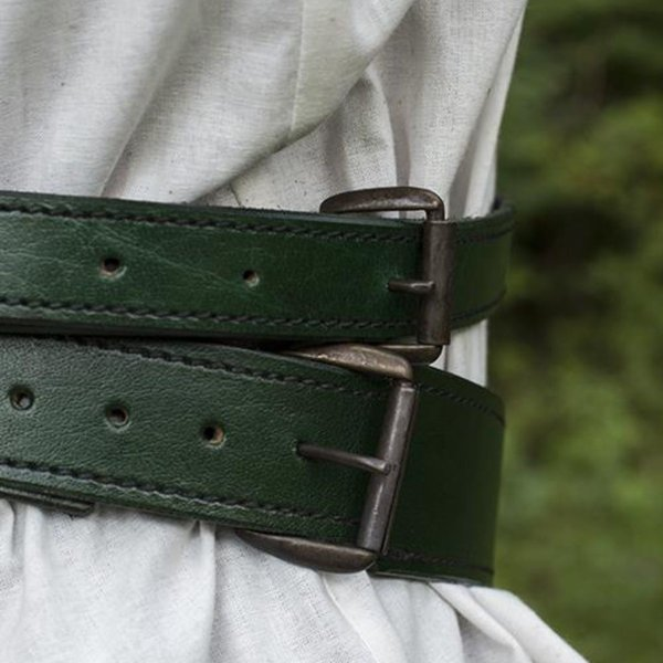 Epic Armoury Two-part sword belt, green
