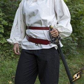 Epic Armoury Tvådelad svärdbälte, röd