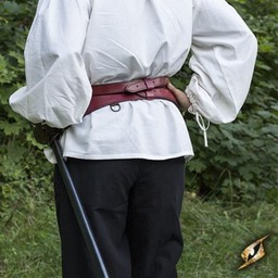 Two-part sword belt, red