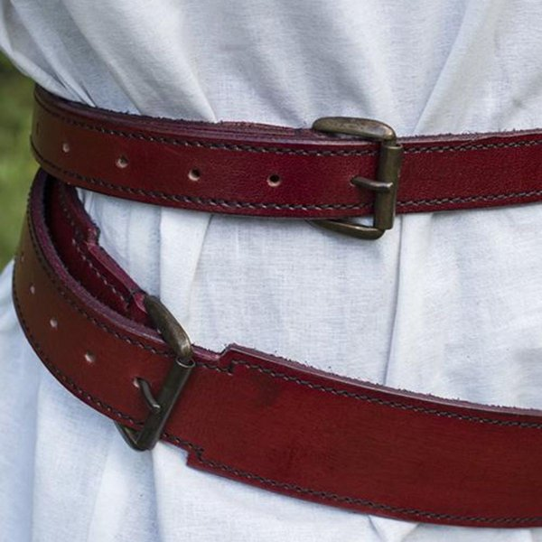 Epic Armoury Two-part sword belt, red