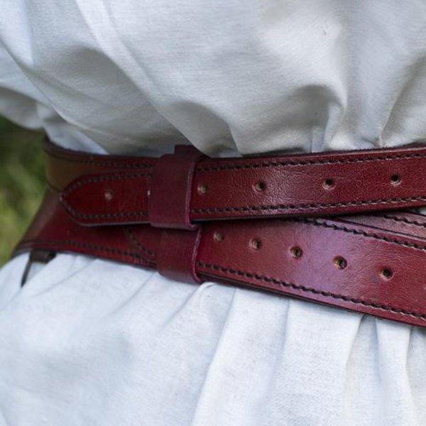 Epic Armoury Tweedelige zwaardriem, rood