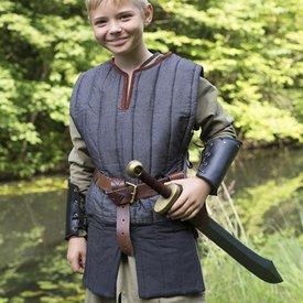 Epic Armoury Gambeson sin mangas RFB para niños, negro