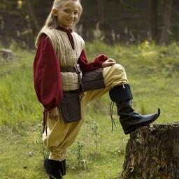 RFB Sleeveless gambeson for children, beige