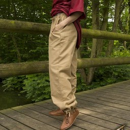 Basic kids trousers, beige