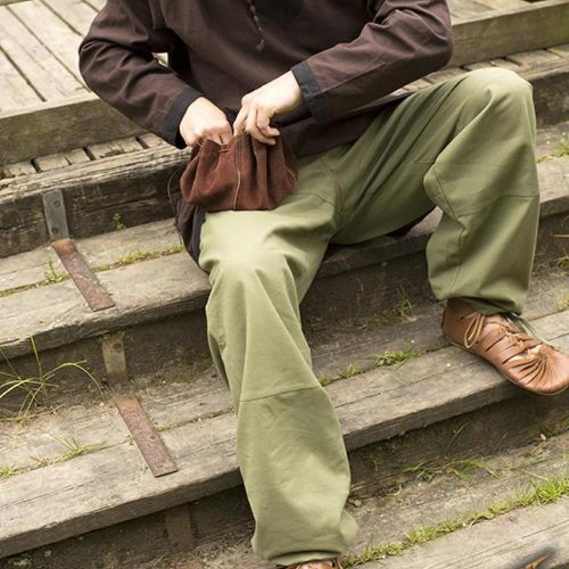 Epic Armoury Pantalón básico para niños, verde.