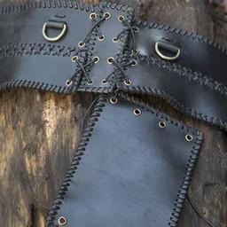 Broad waist belt, black