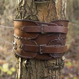 Broad waist belt, brown