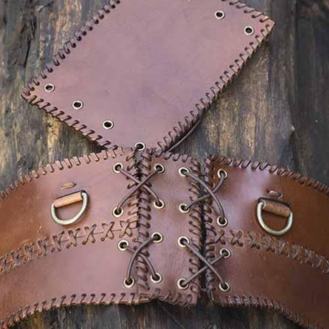 Epic Armoury Cinturón ancho, marrón