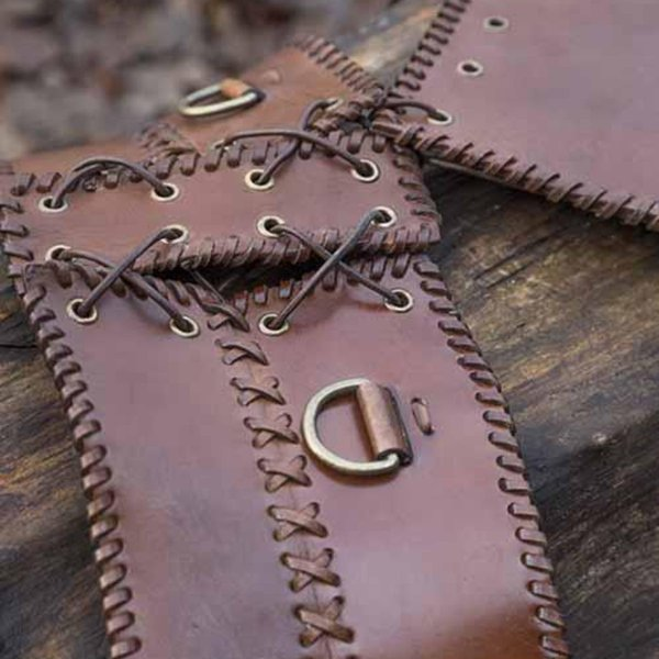 Epic Armoury Bred talje bælte, brun