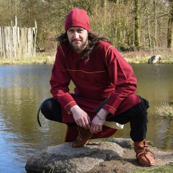 Birkamuts vissegraatmotief, rood