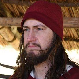 Birka kapelusz jodełka motyw, czerwony