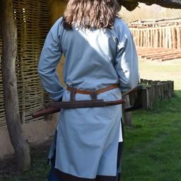 (Tidig) medeltids tunika Clovis, ljusblå grå-brun