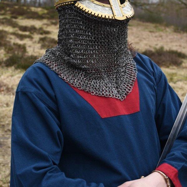 (Tidlig) middelalderlig tunika Clovis, blå-rød