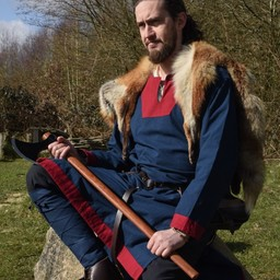 (Early) medieval tunic Clovis, blue-red