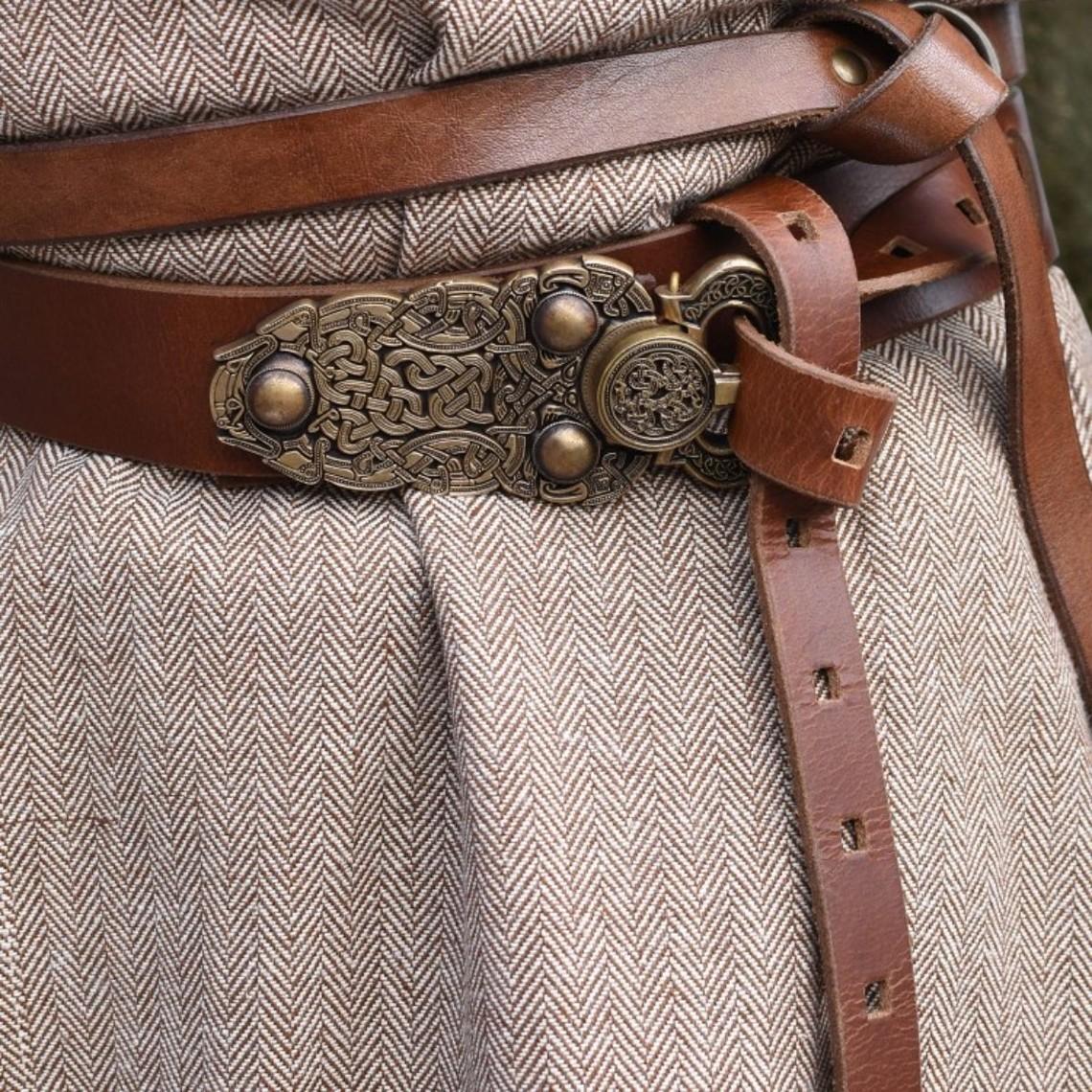 Thorsberg tunika jodełka motyw, brązowy