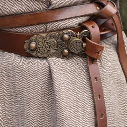 Tunique Thorsberg motif à chevrons, marron