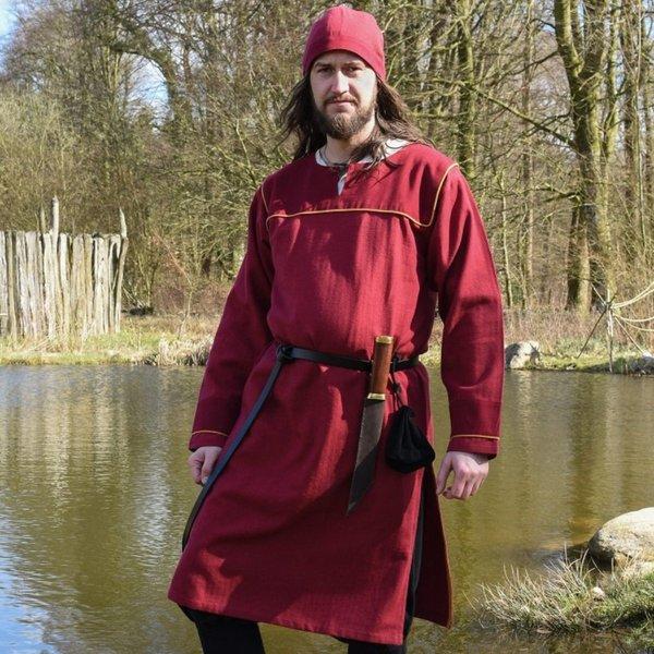 Thorsberg tunic herringbone motif, red
