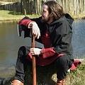 Thorsberg tunika jodełka motyw, czerwony