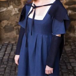 Mouwen Middeleeuwse jurk Frideswinde blauw
