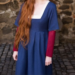 Mouwen Middeleeuwse jurk Frideswinde rood
