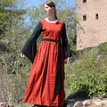 Leonardo Carbone Vestido Philona negro-rojo