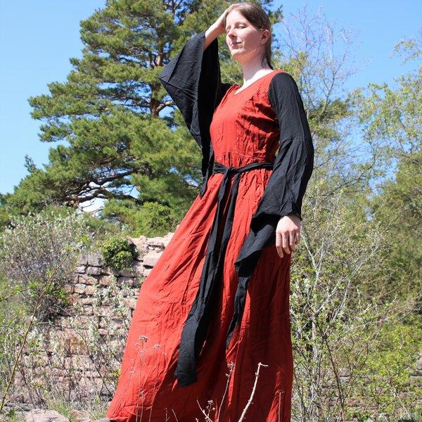 Jurk Philona zwart-rood