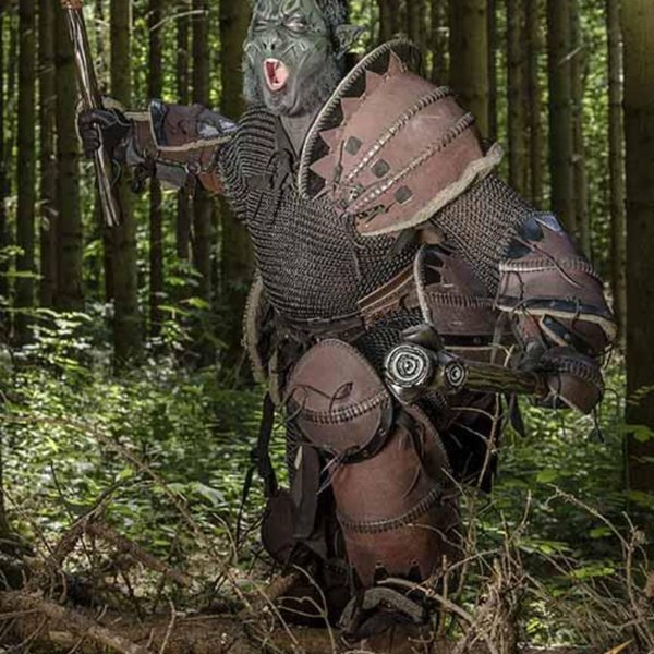 Epic Armoury Orc bältet brunt