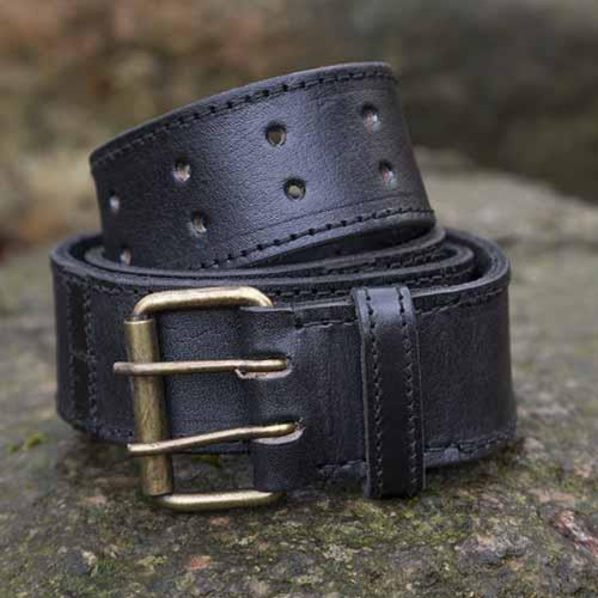 Belt with rings, black