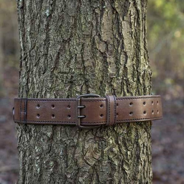 Epic Armoury Belt with rings, brown