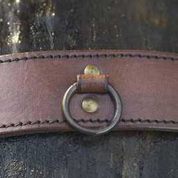 Pasek z pierścieniami, brązowy