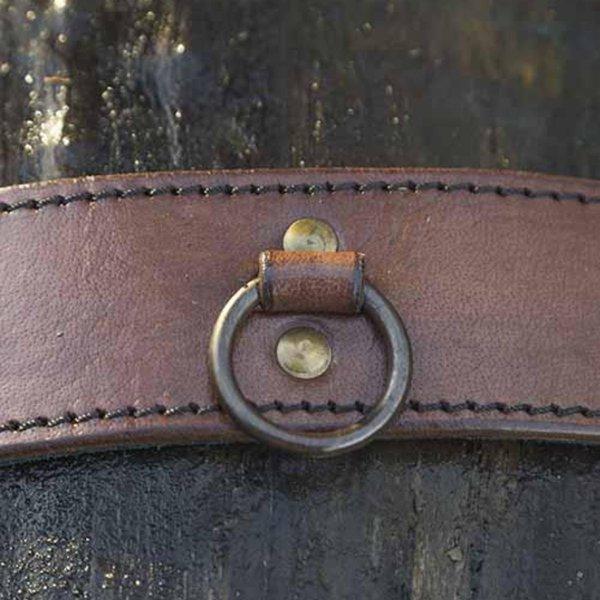 Epic Armoury Gürtel mit Ringen, braun