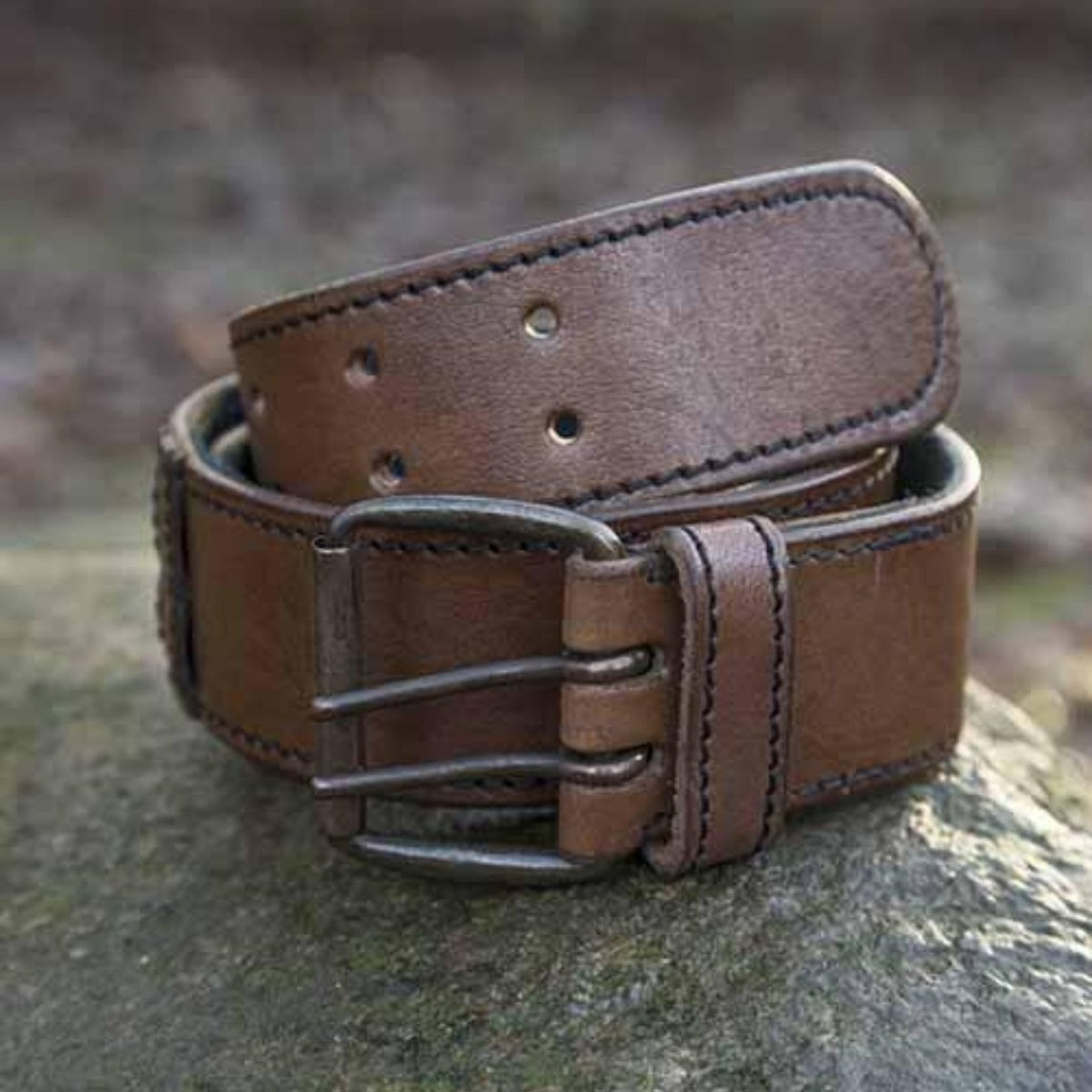 Epic Armoury Cinturón con anillos, marrón