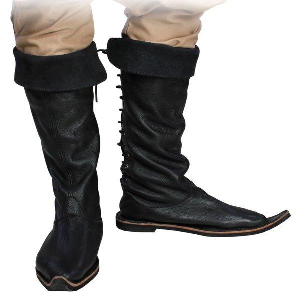 Epic Armoury 15de eeuwse laarzen zwart