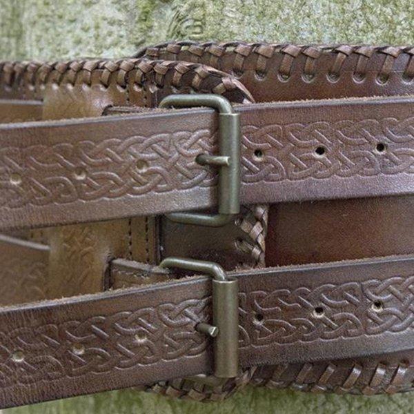 Epic Armoury Cintura in vita Nodi celtici, marrone