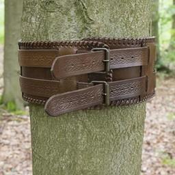 Cinturón nudos celtas, marrón.